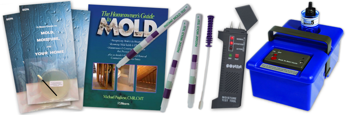 A variety of mold testing products and literature